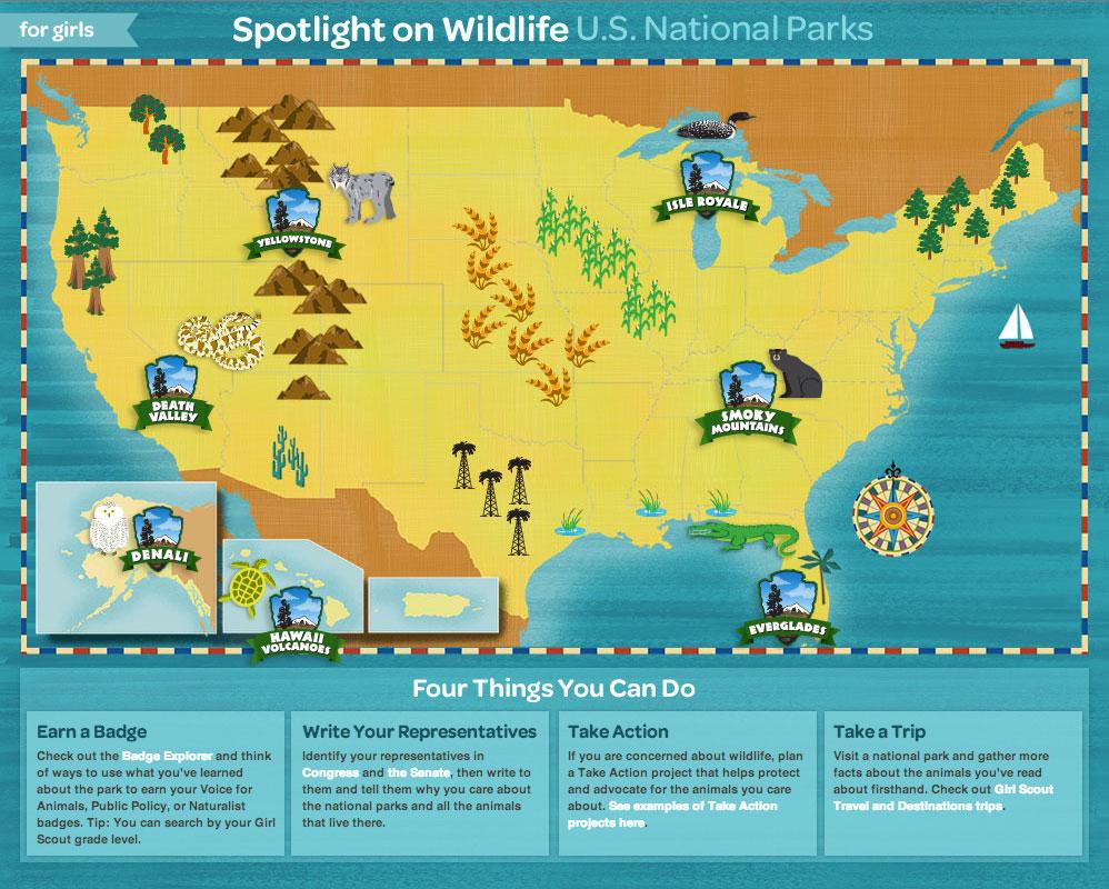 girl scouts spotlight wildlife national parks