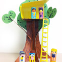 Print & Play -- Brownie Elf & Friends Tree House
