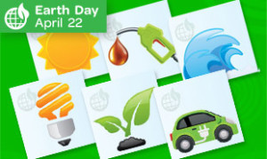 Earth Day Memory Game in 5-9 Games
